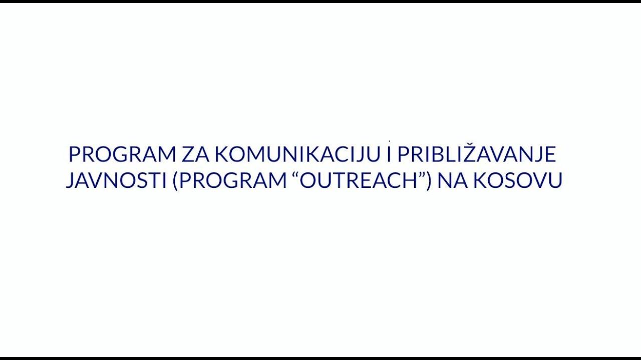 """Program """"outreach"""" na Kosovu"""